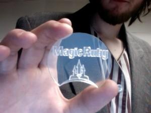 Laser Cut MagicRuby Token