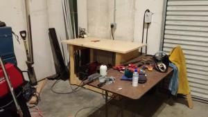 The original (new lab) welding area