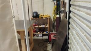 A peek inside the new welding area