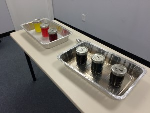 Dyes, all ready to use! Photo credit: Mike Bakula