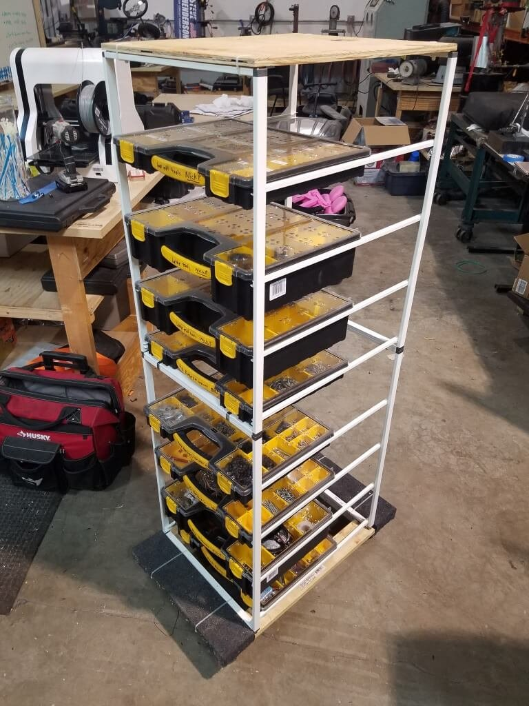 Ikea Storage Rack Hack