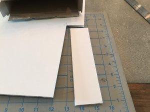 foam core cut to fit the box