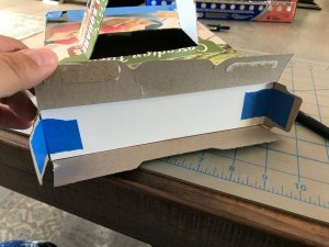 foam core screen taped into the other end of the box