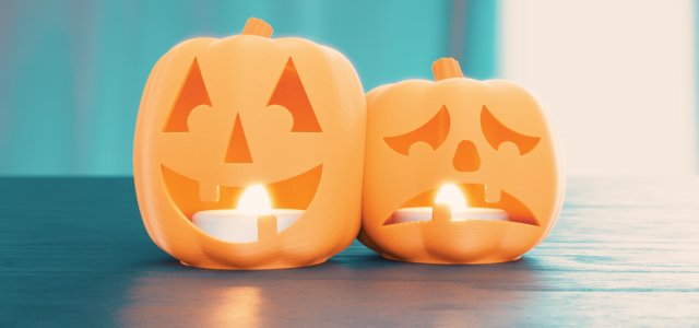In preparation for Halloween, I designed this little home decoration- a tiny tealight holder. A cute pair of pumpkin Jack-O-Lanterns in the theme of comedy/tragedy theatrical masks. Designed to fit […]